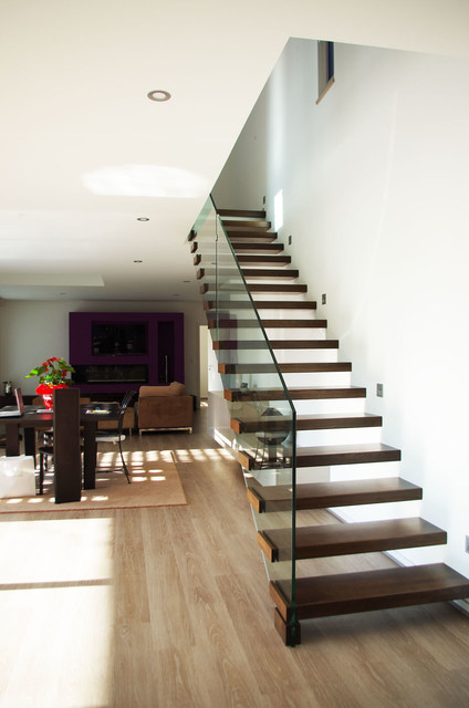 Maison Neuve Moderne Escalier Strasbourg Par HOFFERT Architecture