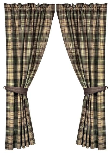 forest plaid curtain set