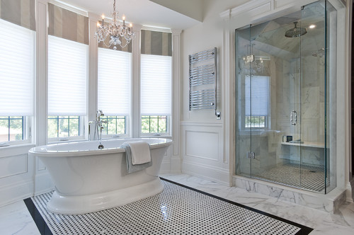 Jill Greaves Design Master Ensuite Freestanding Bath and Marble Shower