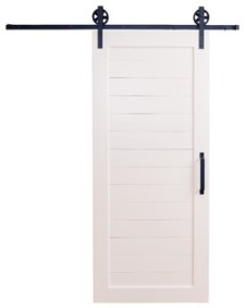 Craftsman Horizontal Panel Door, 7'x3'