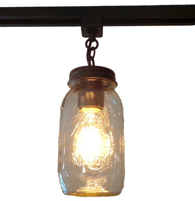 https www houzz com products mason jar track lighting single new quart rubbed bronze prvw vr 67095532