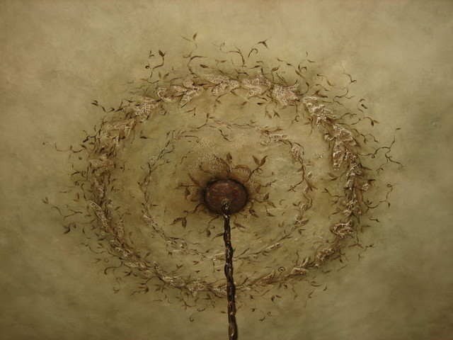 Hand Painted Ceiling Medallion Close Up