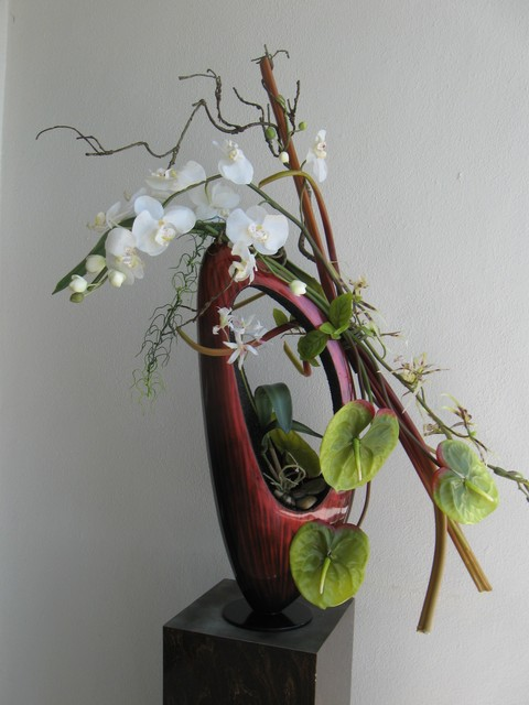Modern Asian Ikebana Contemporary Entry Tampa By