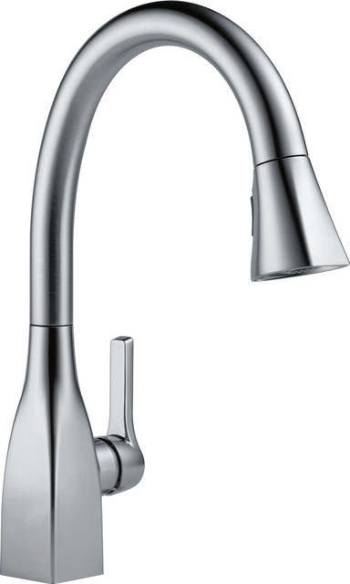 delta mateo single handle pull down kitchen faucet arctic stainless