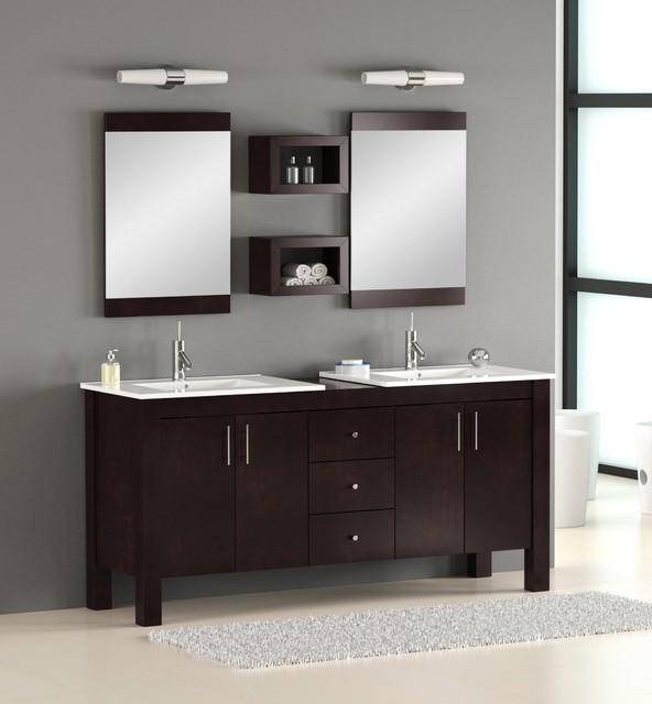 "72"" Double Bathroom Vanity - Modern - Bathroom Vanities ..."