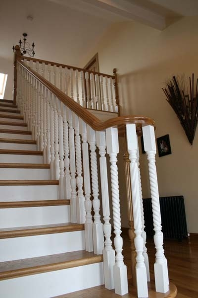 White And Oak Stairs Traditional Staircase Other | White Oak Stair Railing