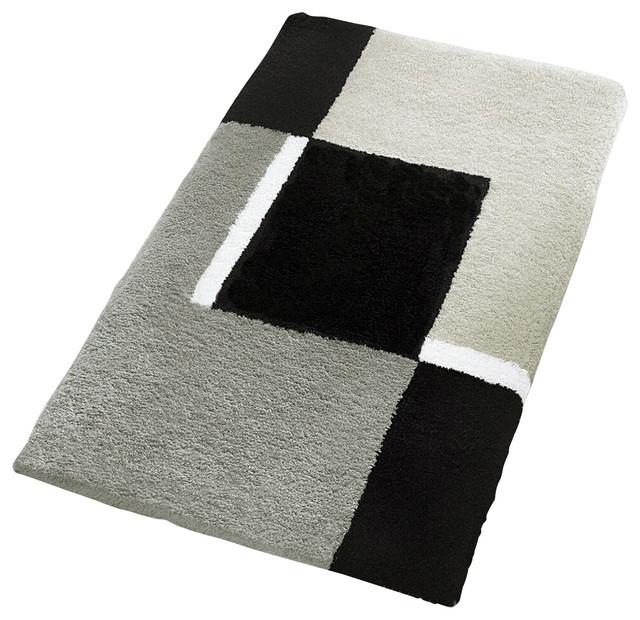 extra large oversized bath rug design in platinum