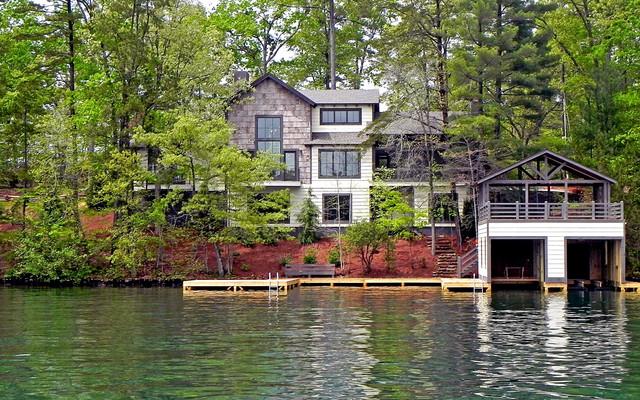 Lake Burton Custom Homes Rustic Exterior Atlanta
