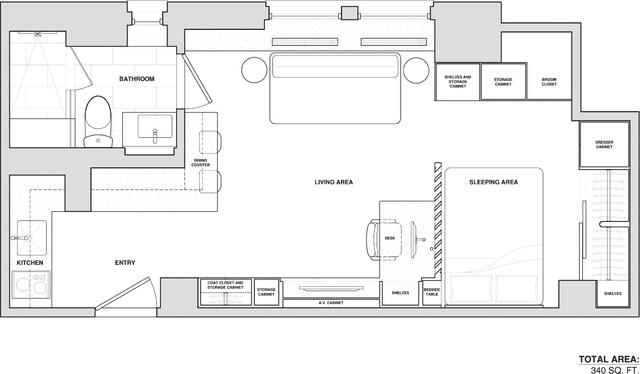 Micro-apartment contemporary-floor-plan