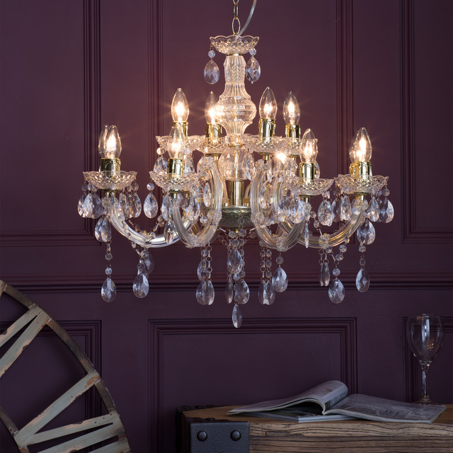 Marie Therese Chandelier 12 Light Gold Shabby Chic Style Dining