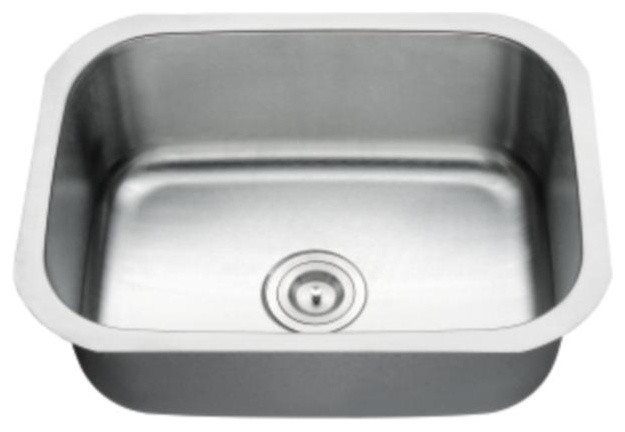 single bowl stainless steel laundry sink