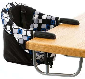 Zooper Hook On High Chair  Blue Checkers   Contemporary   High     Zooper Hook On High Chair  Blue Checkers