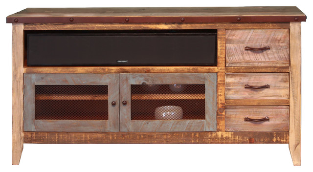 madera multi color tv stand 62