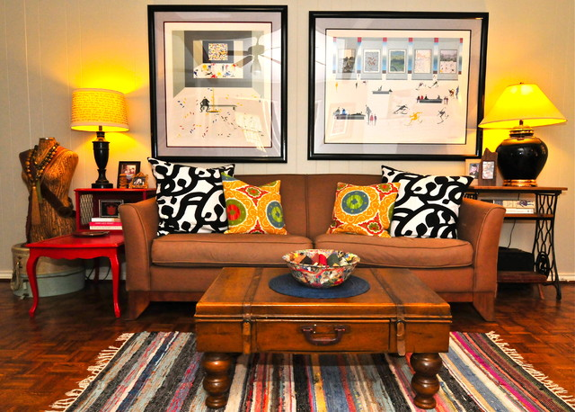 My Houzz: Budget-Friendly Bohemian Ranch in Dallas eclectic-living-room