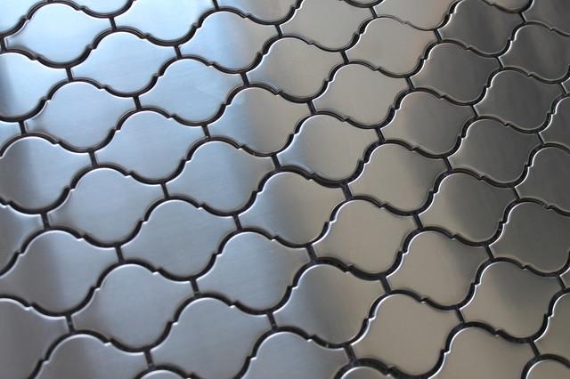 stainless steel arabesque mosaic tile sample