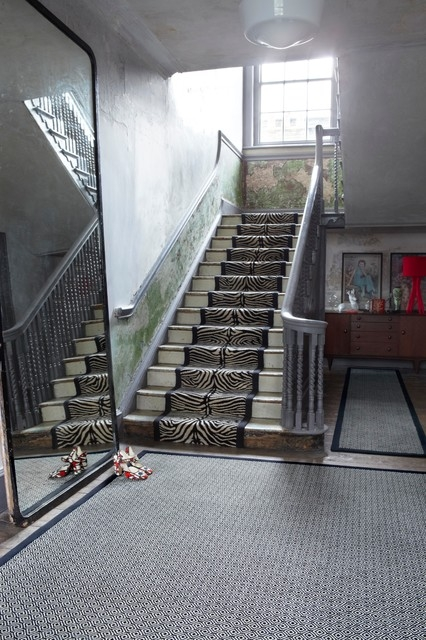 Alternative Flooring Quirky Skinny Black And Quirky Tess Black | Thin Carpet For Stairs | Area Rug | Grey | Stair Runners | Flooring | Hallway