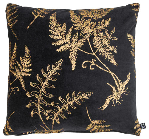 "Florian Cushion, Black/Gold, 20""x20"""