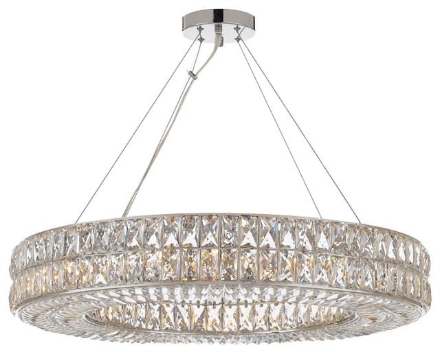 Crystal Spiridon Ring Chandelier Modern Contemporary Lighting