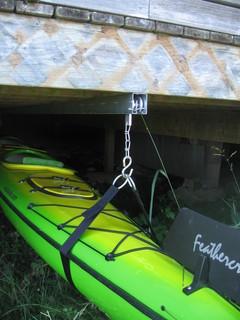 Under Deck Slidng Kayak Storage Hardware