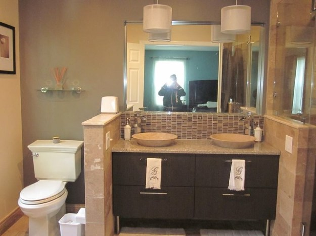 master bathroom remodel with double sink mahwah, nj - modern
