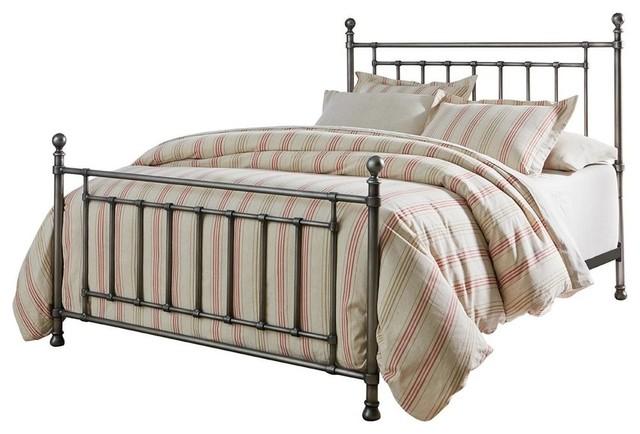 Standard Furniture Bennington Gray Metal Bed, Burnished