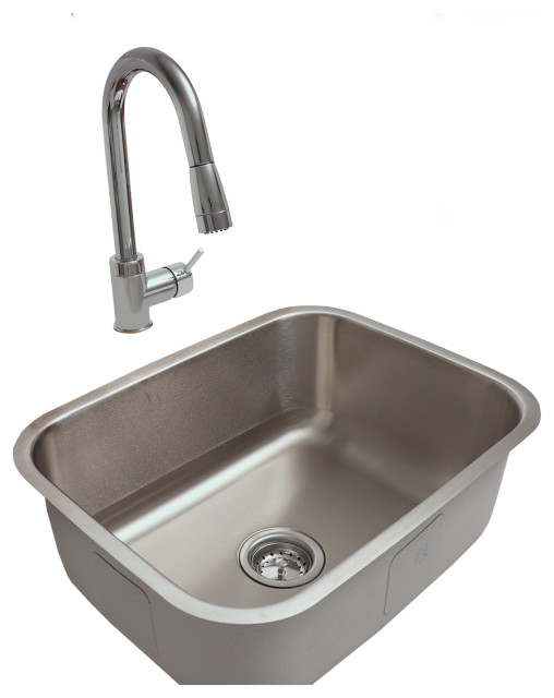 rcs outdoor kitchen stainless steel under mount sink and faucet