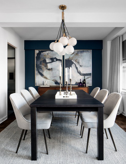 A Mid-Century Modern Apartment Makeover contemporary-dining-room