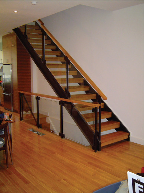 Custom Staircase And Glass Railing Modern Staircase