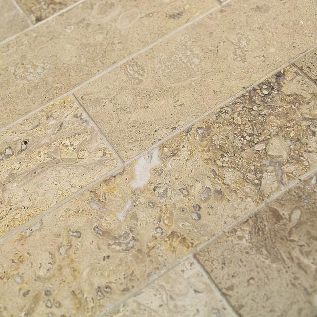 brushed stone travertine marble tile sample