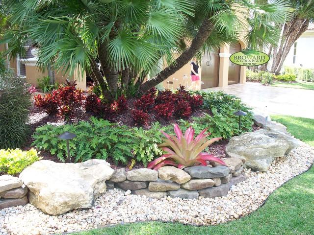 Landscape Pebbles Miami Decorative Ideas Image Of Stepping