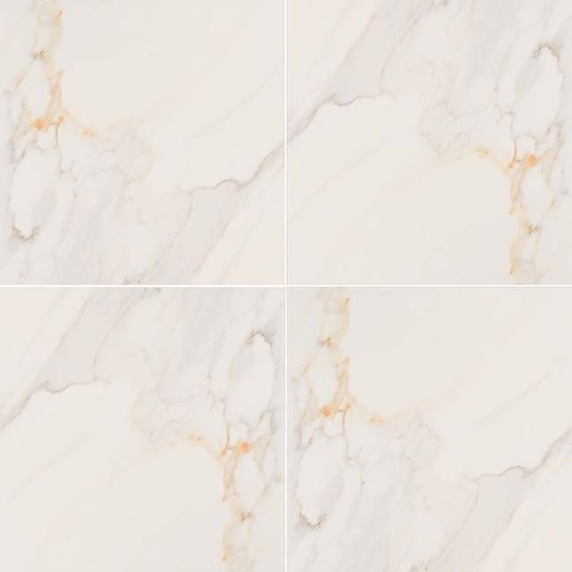 18 x18 adella calacatta matte porcelain tile set of 45