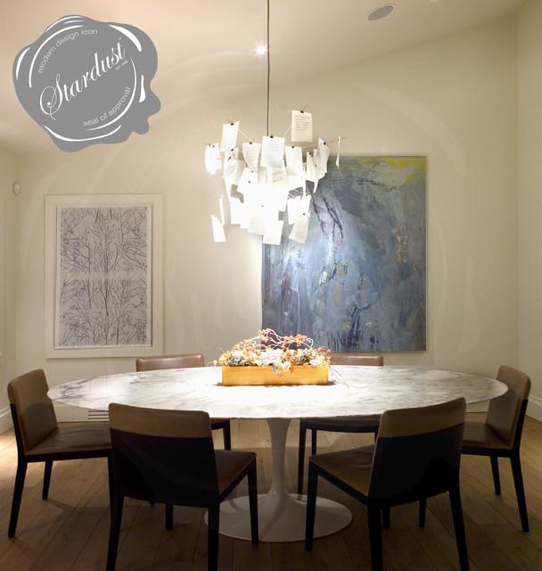 Dining Room Table Chandelier Ingo Maurer Zettelz 5 Lamp Modern Dining Room New York By