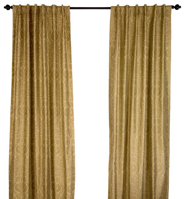 https www houzz com products silk dupioni gold print sage green curtain panel sage green 108 prvw vr 40782859