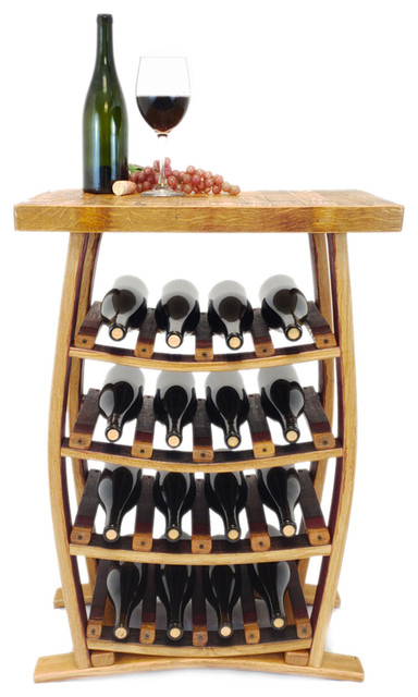 wine barrel stave 16 bottle wine rack