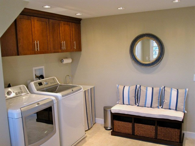 Interior Design By Fresh Cape Designs Laundry Folding Table By Expert Closets Traditional