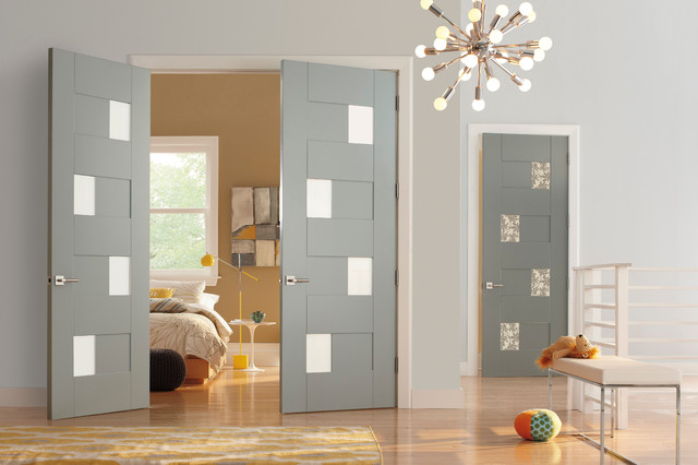trustile modern door collection - interior glass doors - modern