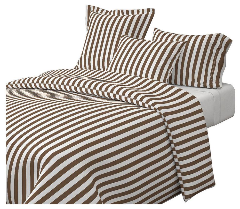 stripes vertical dark brown and white white stripes cotton duvet cover king
