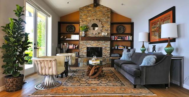 Malibu - Rustic Modern ranch house - Rustic - Living Room ...
