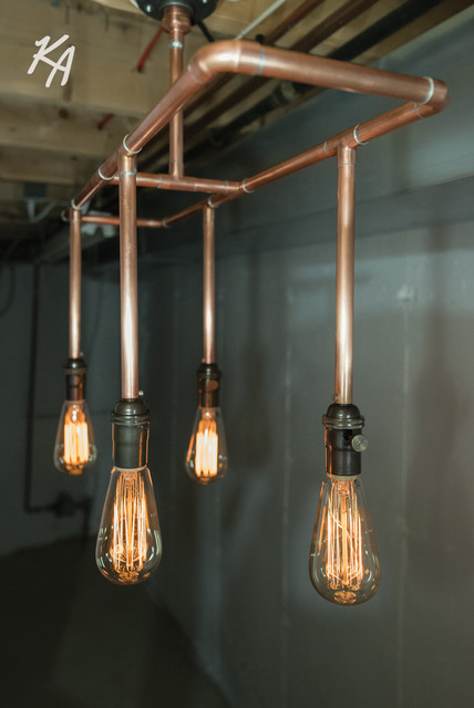 Copper Pipe Chandelier Chandeliers