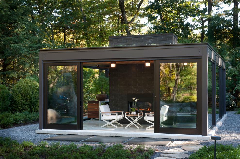outdoor glass room design