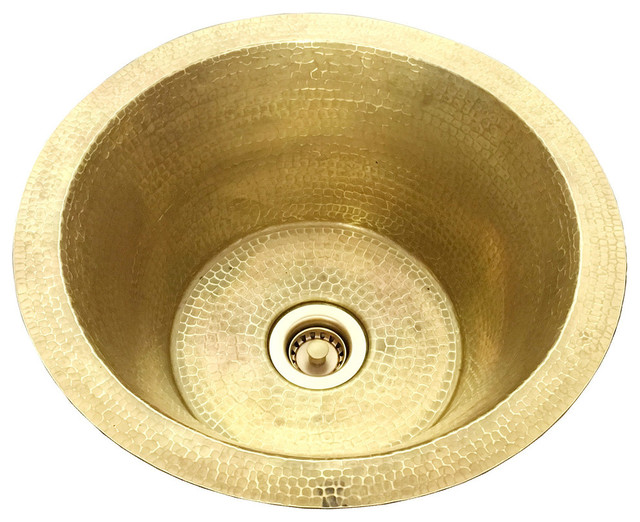 14 hammered weathered brass bar sink sink with drain