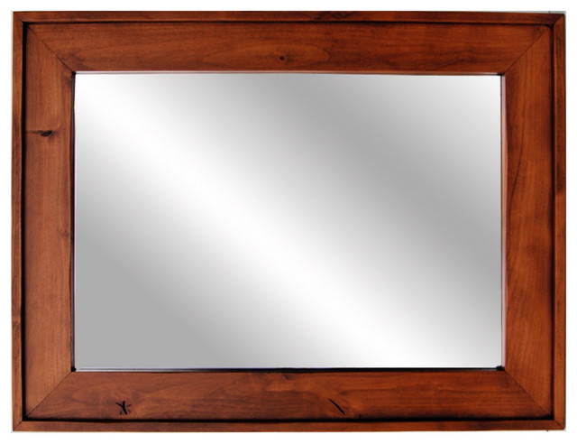 wooden mirror cherry wood stained mirror mapleton style 24x36