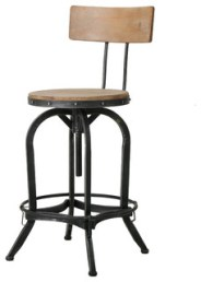 Modern Industrial Design Adjustable Seat Height Bar/Counter Stool