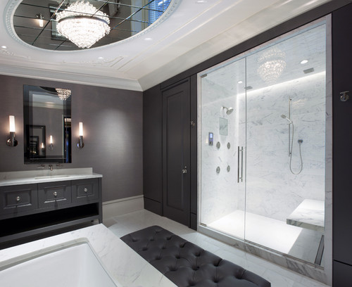 Charmant Calm And Peaceful Bathroom Settings That Have Less Stuff And Are Stylish  With Simple Lines Are Trending.