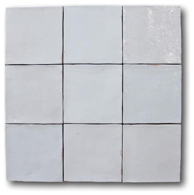 mestizaje zellige 5 x 5 ceramic tiles white decor color sample