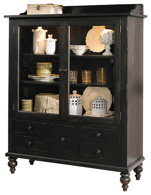 display cabinet with solids rubberwood and black cherry traditional china cabinets and hutches by silver coast company