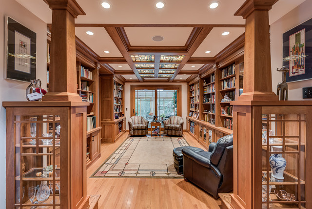 Craftsman Library Seymour Craftsman Living Room By