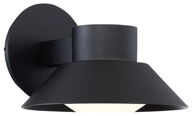 modern forms oslo 8 led outdoor wall sconce in black