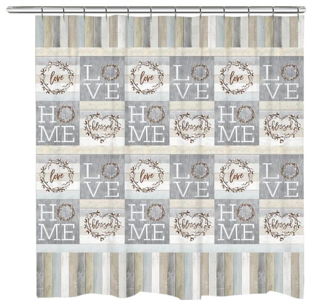 loving home shower curtain