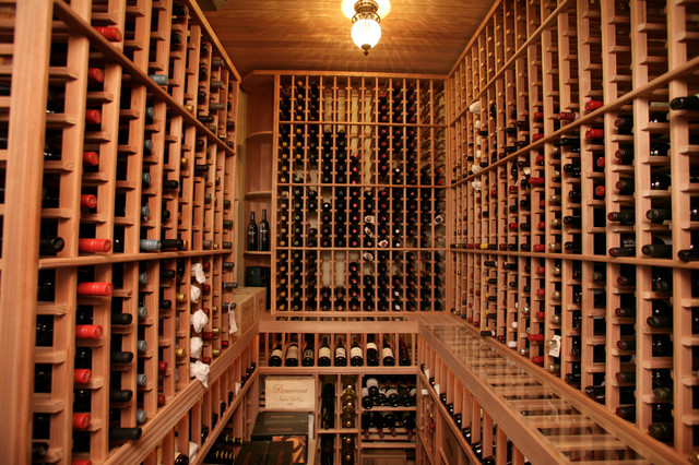 South Tampa Custom Home Mediterranean Wine Cellar